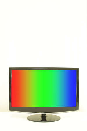tint: ComputerTV display, RGB colours on screen, white background