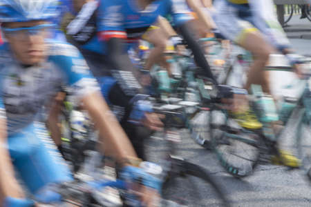 Cycling race, competitors in motion