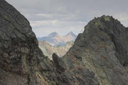 orla: Tatra Mountains, Zawrat Peak in Poland Stock Photo