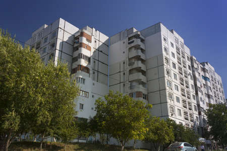 Republic of Moldova, Orhei, Communist era Housing Estate, summer, sunlit
