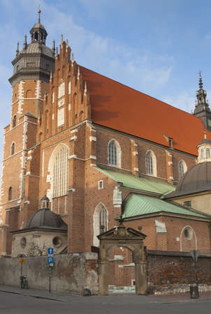 west end: West end and tower of Corpus Christi Church, Kazimierz district, Krak�w, Poland, afternoon sunlight