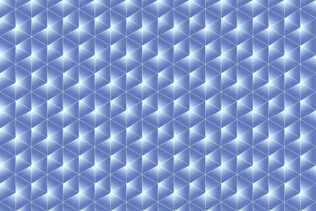 trigonal: White and blue texture composed of symmetrical triangles Stock Photo