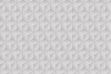trigonal: White and warm grey texture composed of symmetrical triangles Stock Photo