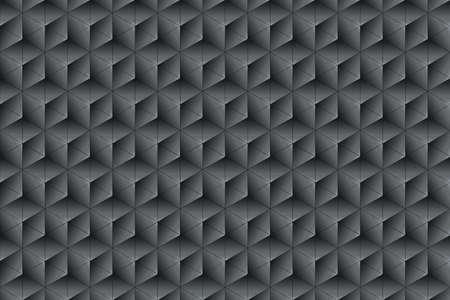 trigonal: Black and anhtracite texture composed of symmetrical triangles Stock Photo