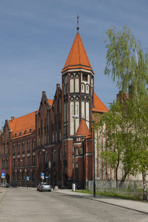 the 19th century: Poland, Silesia, Gliwice, 19th century post office building, sunlit