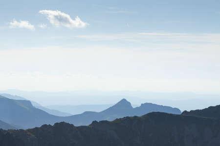 giewont: Poland, Tatra Mountains,Giewont Peak seen from South-East, Krzy?ne Stock Photo
