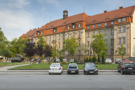 Poland, Silesia, Gliwice, Regional Court Building, afternoon light Stock Photo
