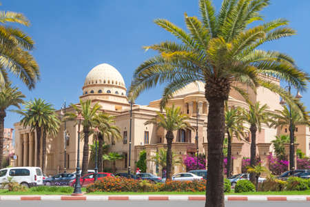 Royal Theater Building, sunlit, Marrakech, Morocco,