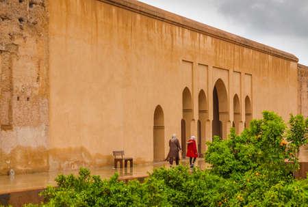 El Badi Palace at Marrakech, Morocco,