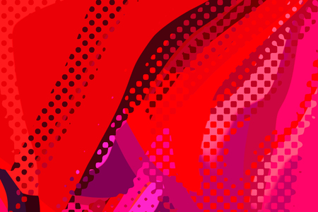 Abstract modern background. Creative colorful forms and shapes. Geometric pattern. Red bright graphic texture.