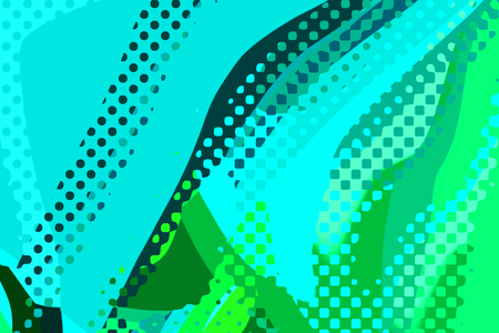 Abstract modern background. Creative colorful forms and shapes. Geometric pattern. Cyan and green bright graphic texture.