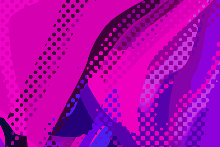 Abstract modern background. Creative colorful forms and shapes. Geometric pattern. Blue, pink and purple bright graphic texture.