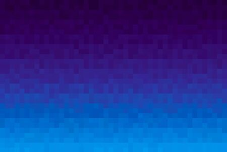 Abstract purple and blue gradient background. Texture with pixel square blocks. Mosaic pattern Reklamní fotografie