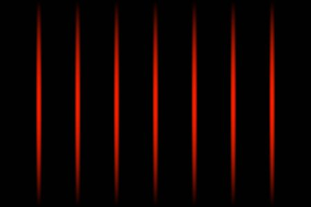 3d red vertical fading neon light elements on black background. Futuristic abstract pattern. Texture for web-design, website, presentations, digital printing, fashion or concept design. EPS 10