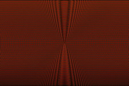 Red hypnotic optical illusion abstract background. Halftone glitch texture.