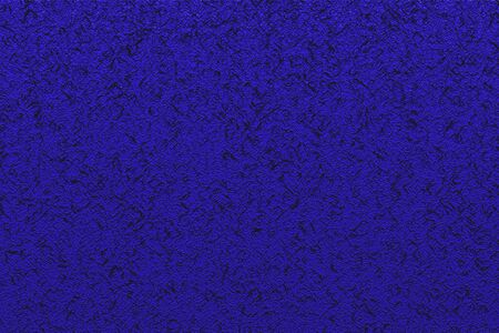 Abstract texture. Black swirls on neon blue background. Pattern for decor, fashion design.