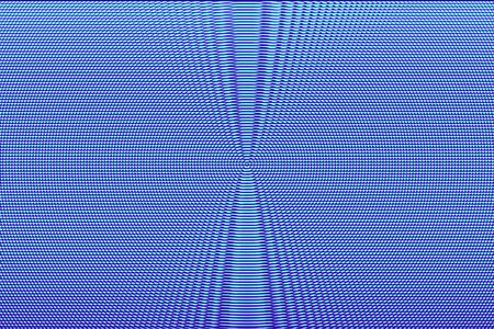 Blue neon hypnotic optical illusion background. Abstract texture