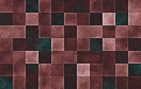 Gradient geometric square blocks. Glitter texture. Abstract background. Standard-Bild