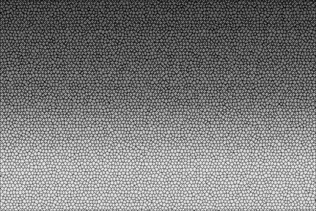 Abstract black and white gradient background textured with cells and dots.  Glitch monochrome texture Standard-Bild