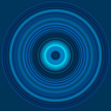 Colorful bright circle , circular lines , radial striped texture in blue tones. Round pattern. Abstract background Standard-Bild