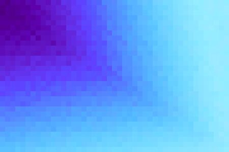 Abstract violet and cyan diagonal gradient background. Texture with pixel square blocks. Mosaic pattern. Standard-Bild