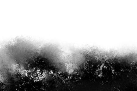 Abstract modern black and white painting . Textured monochrome background. Standard-Bild