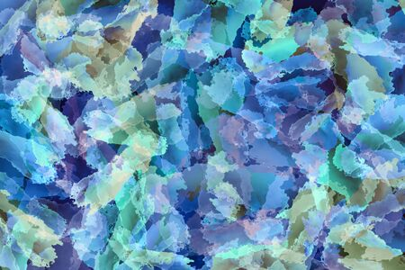 Abstract green , blue and purple background. Colorful texture. Brush strokes. Vivid stains pattern. Paint splash. Modern painting Standard-Bild
