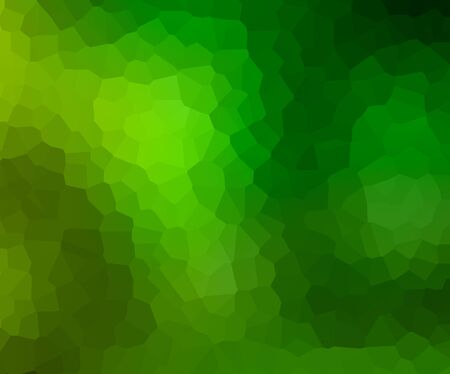 Abstract mosaic tile texture . Colorful green geometric polygon cells . Grid pattern . Geometric shapes background. Standard-Bild