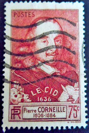 stamp collecting: Pierre Corneilles Le Cid France Stamp Editorial