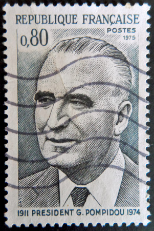 stamp collecting: President G.Pompidou Stamp France Editorial