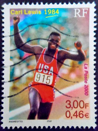 stamp collecting: Carl Lewis Stamp France