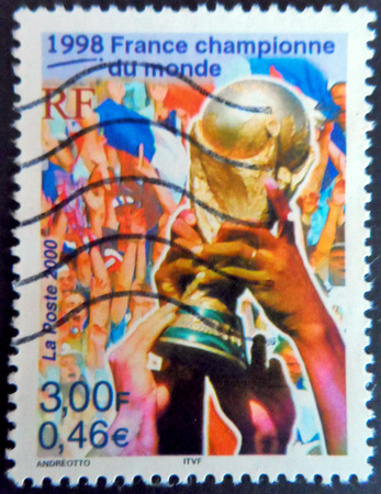 stamp collecting: World Cup 1998 France Stamp