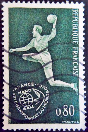 stamp collecting: Stamp Handball France