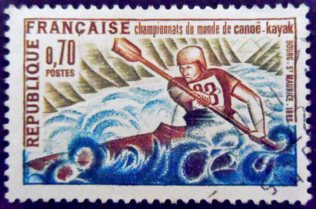 stamp collecting: Canoe kayak Stamp France