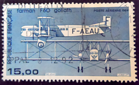stamp collecting: Farman F60 Goliath stamp France