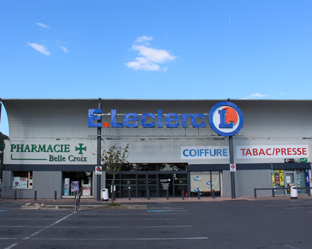 retail chain: FRANCE - September 27, 2015: Lelcerc store. Leclerc is a broad retail chain in food predominance of French origin