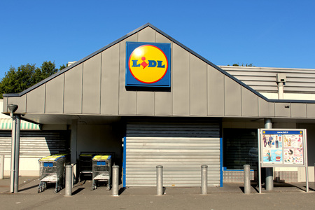 collaborator: FRANCE - September 20, 2015: Lidl store. Lidl is a german company hard discount. Lidl is present in 26 countries in Europe with around 9900 stores.