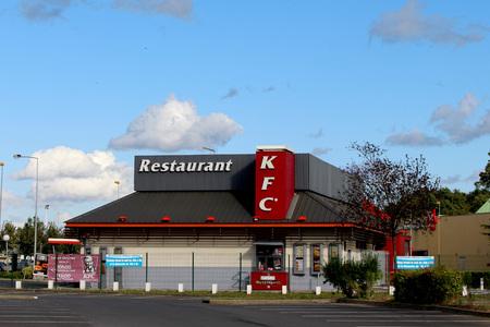 food chain: FRANCE - November 8, 2015: KFC restaurant. KFC is an American fast food chain. Editorial