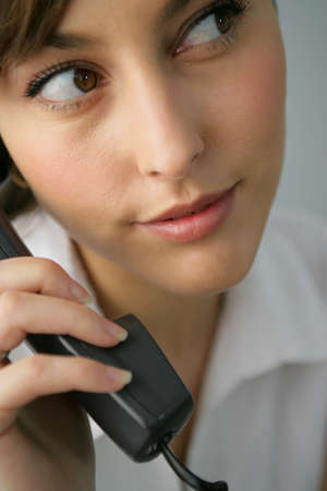 Portrait of a beautiful businesswoman on the phone Stock Photo - 7251330