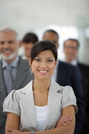 Portrait of smiling businesswoman photo