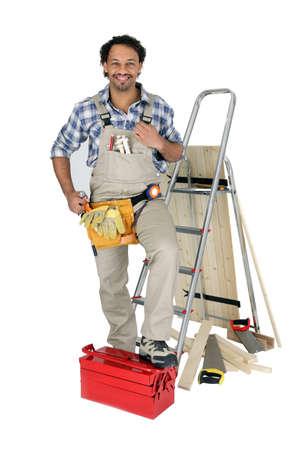 Handyman isolated on white background photo