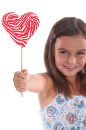 lolly pop: Heart lolly pop