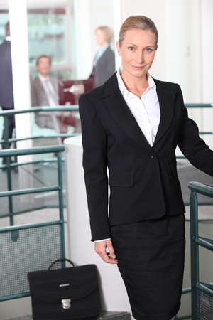 Businesswoman in agency Stock Photo - 10746823