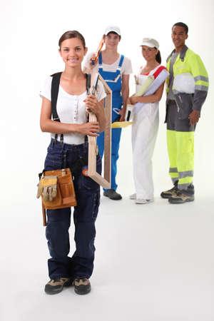 works: Careers Stock Photo
