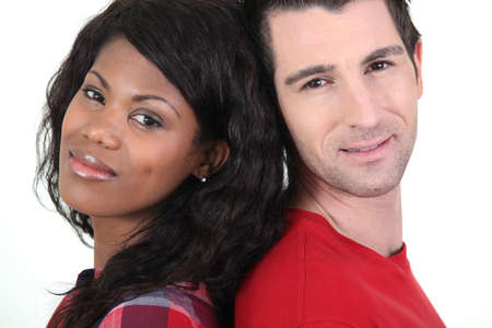 mixed races: Interracial couple
