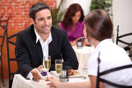 Couple in restaurant Stock Photo - 10746768
