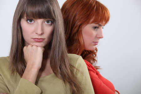 Two upset female friends Stock Photo - 10747309