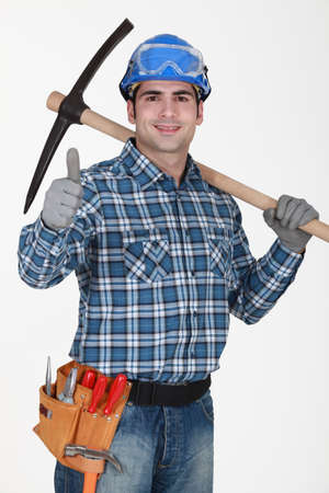 craftsman making a thumbs up sign Stock Photo - 10747371