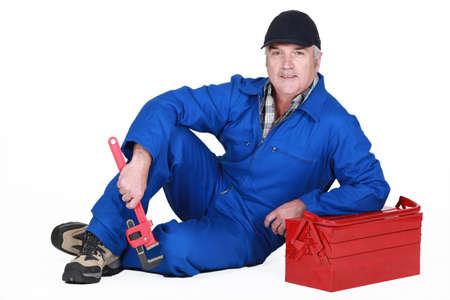 A mature plumber photo