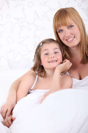 Mother posing with her daughter Stock Photo - 10746203